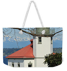 Alki Lighthouse Weekender Tote Bag