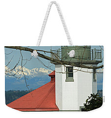 Alki Lighthouse II Weekender Tote Bag by E Faithe Lester