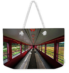 Weekender Tote Bag featuring the photograph All Aboard Tioga Central Railroad by Suzanne Stout