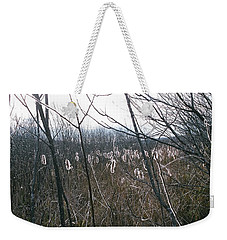 Weekender Tote Bag featuring the photograph All Aglow by David Porteus