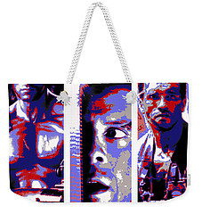 Weekender Tote Bag featuring the digital art All-american 80's Action Movies by Dale Loos Jr