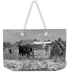 Weekender Tote Bag featuring the photograph All But Gone Black And White by Victor Montgomery