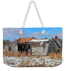 Weekender Tote Bag featuring the photograph All But Gone by Victor Montgomery
