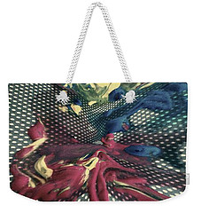 Weekender Tote Bag featuring the painting All In by Jacqueline McReynolds