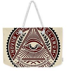 Weekender Tote Bag featuring the digital art All Seeing Eye by Vagabond Folk Art - Virginia Vivier