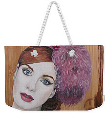 Weekender Tote Bag featuring the painting All That Girls Love 1 by Malinda  Prudhomme