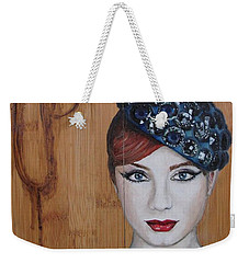 Weekender Tote Bag featuring the painting All That Girls Love 3 by Malinda  Prudhomme
