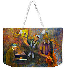 All That Jazz Weekender Tote Bag by Loretta Luglio