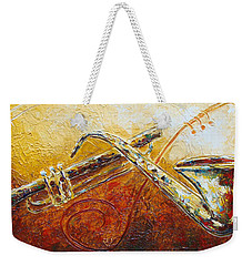 All That Jazz Weekender Tote Bag by Phyllis Howard