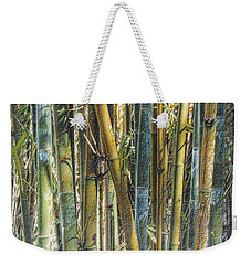 Weekender Tote Bag featuring the photograph All The Colors Of The Bamboo Rainbow by Nadalyn Larsen