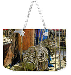All Tied Up Weekender Tote Bag by Ron Harpham