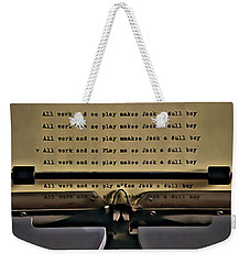All Work And No Play Makes Jack A Dull Boy Weekender Tote Bag by Florian Rodarte