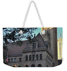 Weekender Tote Bag featuring the photograph Allegheny County Courthouse by Steven Richman