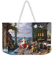 Allegory Of Music Oil On Canvas Weekender Tote Bag by Jan the Elder Brueghel