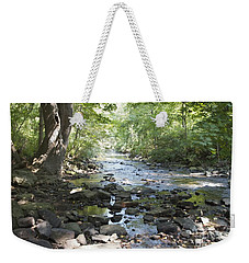 Weekender Tote Bag featuring the photograph Allen Creek by William Norton