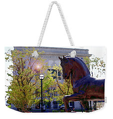 Allentown Pa Old Lehigh County Courthouse And Davinci I Horse  Weekender Tote Bag