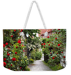 Alley Of Roses Weekender Tote Bag