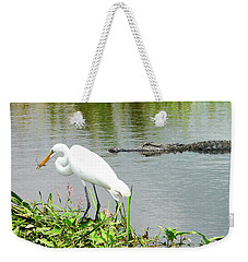 Alligator Egret And Shrimp Weekender Tote Bag