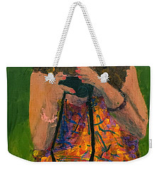 Weekender Tote Bag featuring the painting Allison by Donald J Ryker III