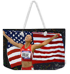 Allison Felix Olympian Gold Metalist Weekender Tote Bag