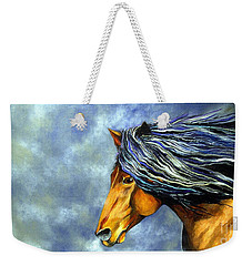 Weekender Tote Bag featuring the painting Almanzors Glissando  by Alison Caltrider