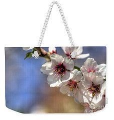 Weekender Tote Bag featuring the photograph Almond Blossoms by Jim and Emily Bush
