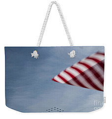 Weekender Tote Bag featuring the photograph Almost Home by Angela DeFrias