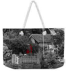Almost Private Phone Box Weekender Tote Bag by Maj Seda