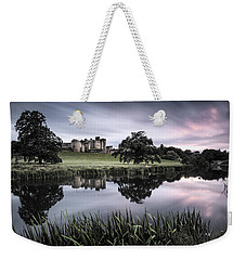 Alnwick Castle Sunset Weekender Tote Bag by Dave Bowman