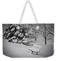 Weekender Tote Bag featuring the photograph Alone In The Park.... by Deborah Klubertanz