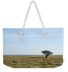 Alone Tree At A Coastal Grassland Weekender Tote Bag