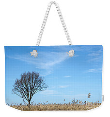 Alone Tree In The Reeds Weekender Tote Bag