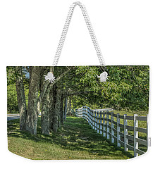 Weekender Tote Bag featuring the photograph Along A Country Road by Jane Luxton