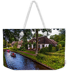Along The Canal. Giethoorn. Netherland Weekender Tote Bag
