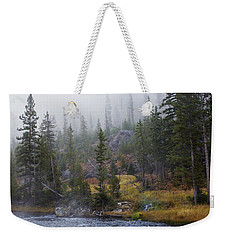 Along The Gibbon In Fall Weekender Tote Bag