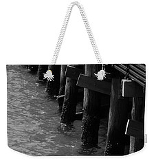 Along The Pier Weekender Tote Bag by Barbara Bardzik