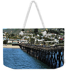 Along The Pier Weekender Tote Bag by Michael Gordon
