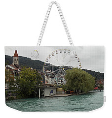 Along The River In Thun Weekender Tote Bag