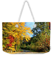 Weekender Tote Bag featuring the photograph Along The Road 2 by Kathryn Meyer