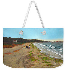Along The Shore In Hyde Hole Beach Rhode Island Weekender Tote Bag