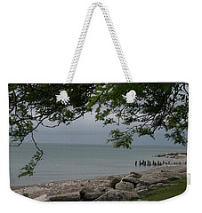 Weekender Tote Bag featuring the photograph Along The Shore by Kay Novy