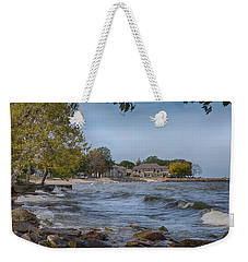 Weekender Tote Bag featuring the photograph Along The Shores Of Marblehead by John M Bailey