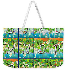 Alphabet Nature - Ivy Weekender Tote Bag