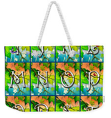 Alphabet Nature - Maple Weekender Tote Bag