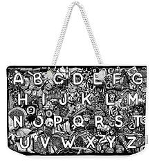 Alphabet Soup Weekender Tote Bag