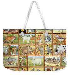 Alphabetical Animals Weekender Tote Bag by Ditz
