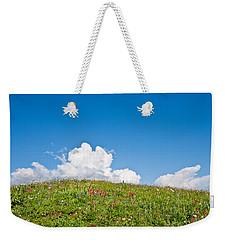 Alpine Meadow And Cloud Formation Weekender Tote Bag