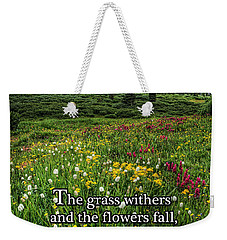 Weekender Tote Bag featuring the photograph Alpine Meadow by Priscilla Burgers