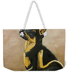 Alsatian Puppy Scratching Weekender Tote Bag