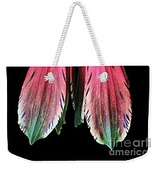 Weekender Tote Bag featuring the photograph Alstroemeria by Judy Whitton